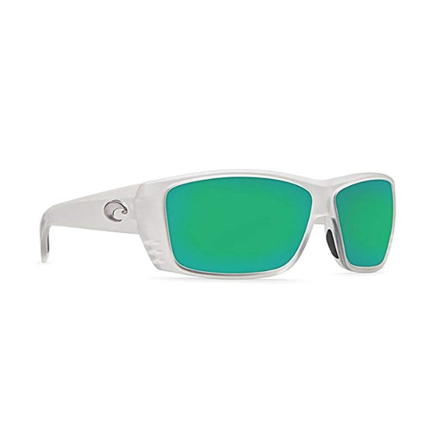 Costa Del Mar Sunglasses - Cat Cay- Glass / Frame: Matte Crystal Lens: Polarized Green Mirror Wave 580 Glass