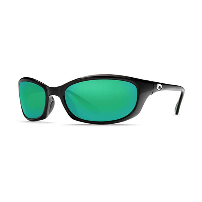 Costa Del Mar Harpoon Sunglasses Shiny Black/Green Mirror 580Glass