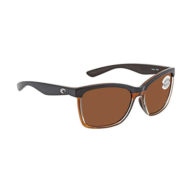 Costa Del Mar Anaa Sunglasses Shiny Black On Brown / Copper 580G
