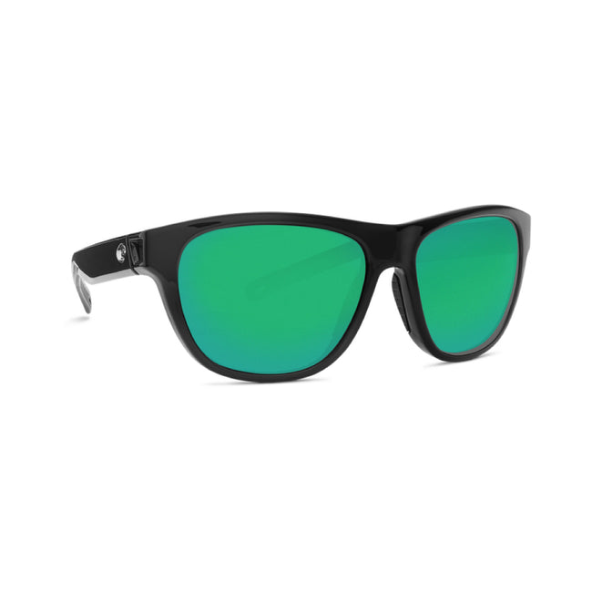 4eaee29673b7e Costa Del Mar Bayside Sunglasses Shiny Black Frame Green Mirror 580G