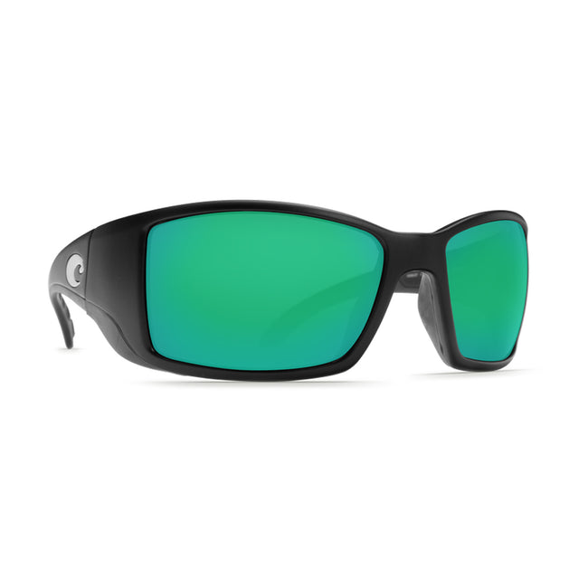 Costa Del Mar Blackfin Sunglasses Black Frame Green Lens 580P