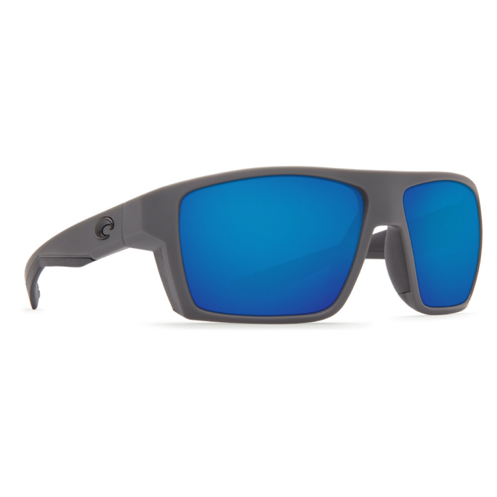 7917aaab2122 Costa Del Mar Bloke Sunglasses Matte Gray/Matte Black/Blue Mirror 580G