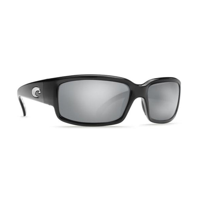 Costa Del Mar Caballito Sunglasses Black Frame Silver Mirror 580P