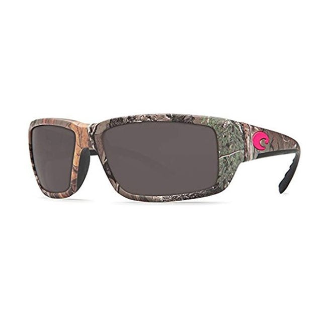 64cfe9a53f3ee Costa Del Mar Fantail Sunglasses Realtree Xtra Camo Hot Pink logo   Gray  Lenses 580G