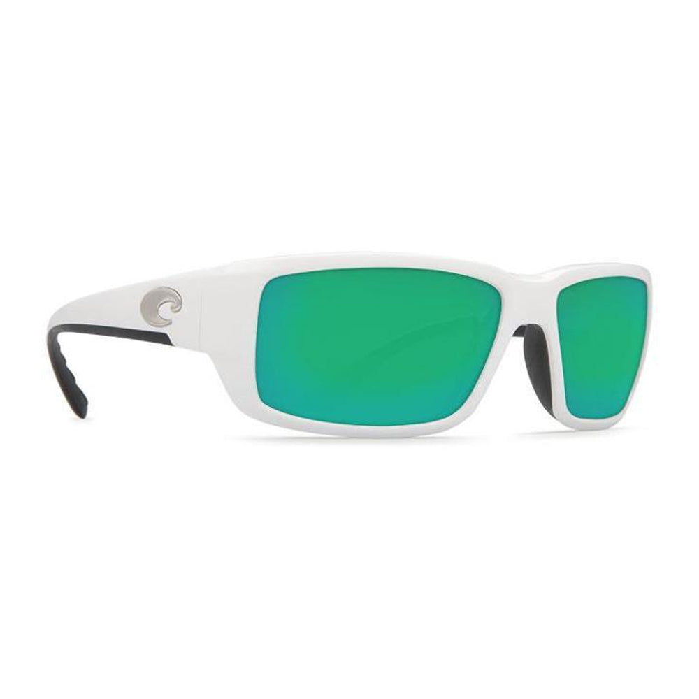 Costa Del Mar Fantail Sunglasses White Frame Green Lens 580P