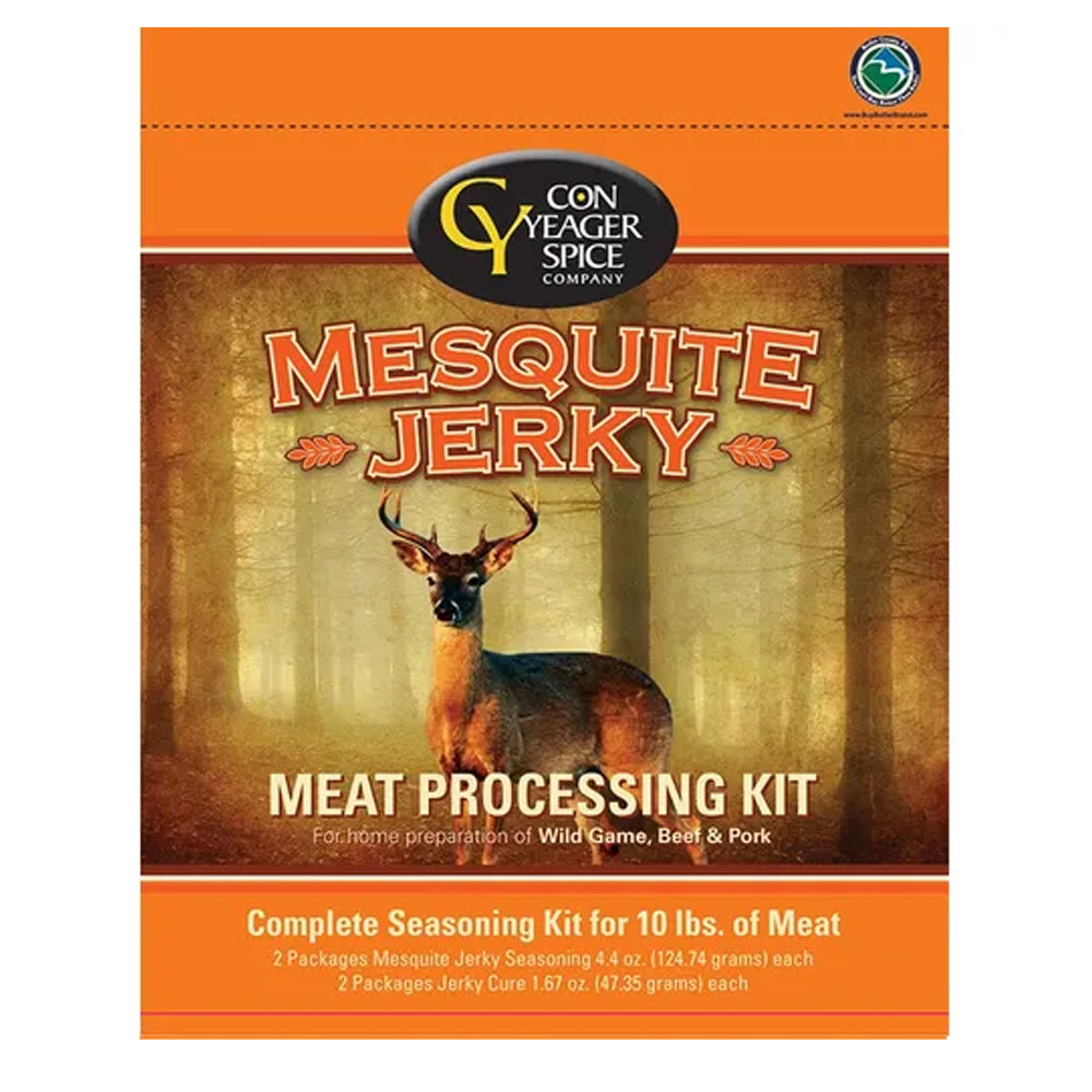 Con Yeager Spice Mesquite Jerky Meat Processing Kit