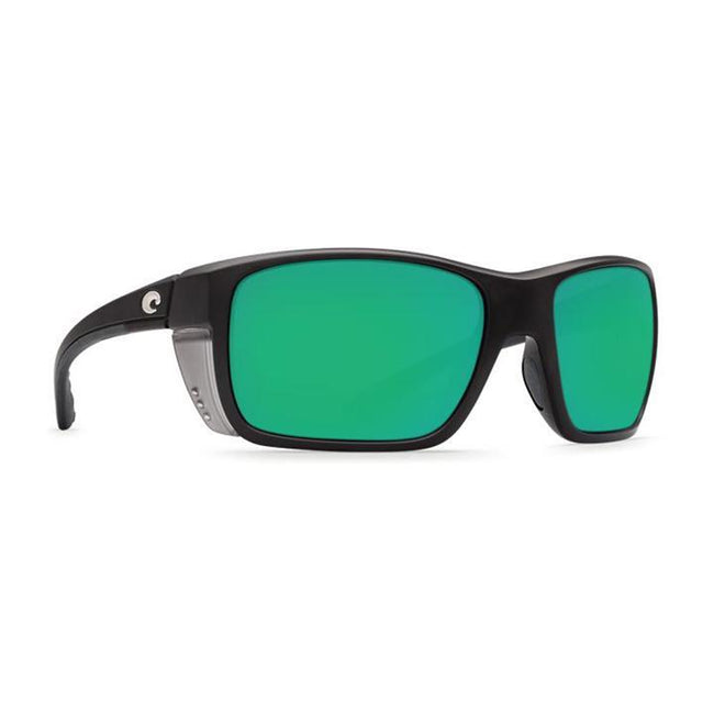 Costa Del Mar Rooster Matte Black Square Sunglasses Green Lens 400G