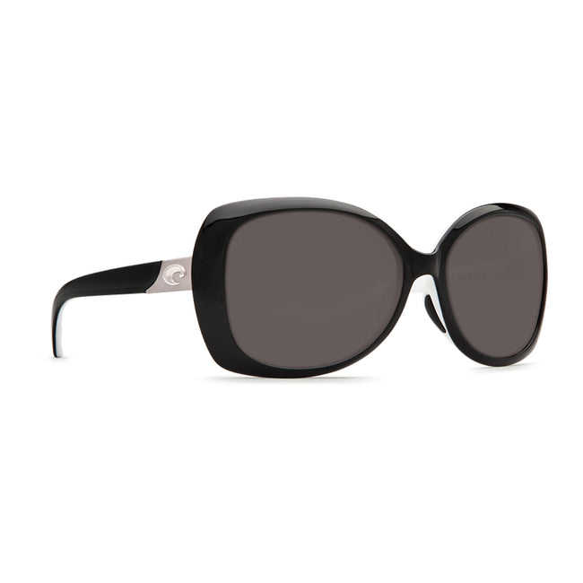 Costa Del Mar Sea Fan Sunglasses, Black/White, Gray 580P
