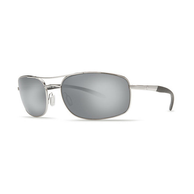 Costa Del Mar Sunglasses - Seven Mile- Plastic / Frame: Satin Palladium Lens: Polarized Silver Mirror 580P