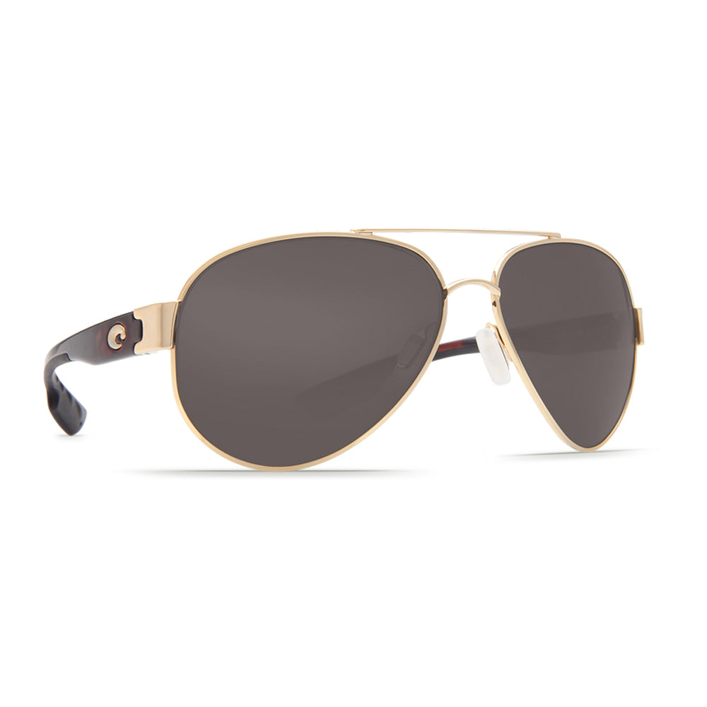 Costa del Mar South Point Polarized Aviator Sunglasses, Gold Frame Gray Mirror 580P