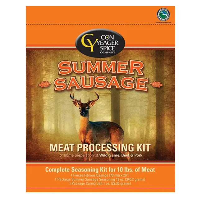Con Yeager Spice Summer Sausage Jerky Meat Processing Kit