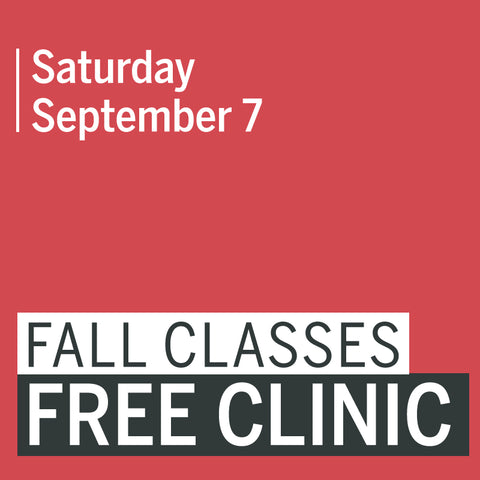 Fall Classes Free Clinic