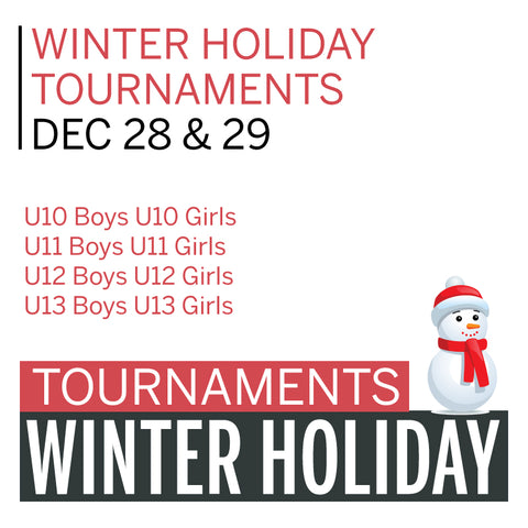 Winter Holiday Tournaments (incl. Ref Fees)