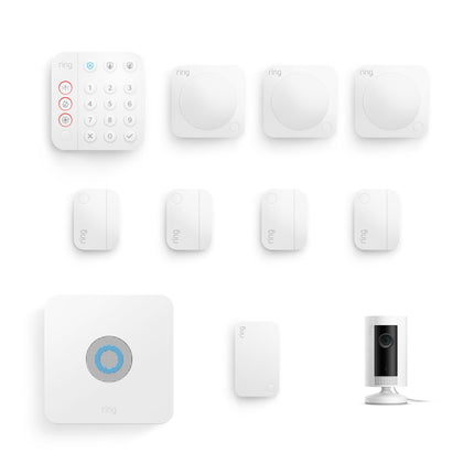 Alarm Security Kit, 10 piece (2nd Generation) + Indoor Cam