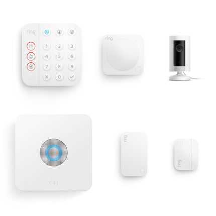 Alarm Security Kit, 5 piece (2nd Generation) + Indoor Cam