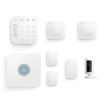 Alarm Security Kit, 7 piece (2nd Generation) + Indoor Cam