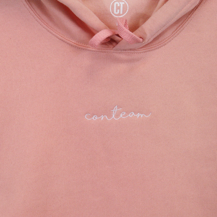 Cropped Hoodie in Peach