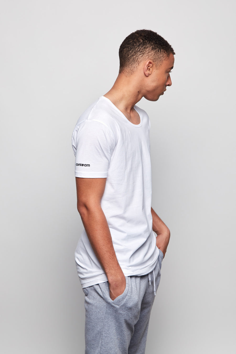 Mens Scoop Neck Tee