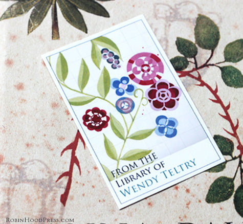 personalized floral bookplates