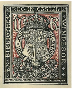 Queen Victoria's Bookplate for Windsor Castle Library