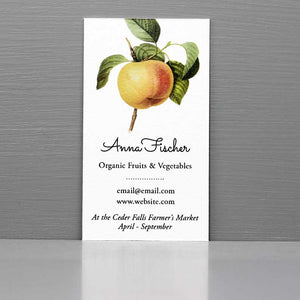 Business Card with Apple, Fruit Business Card