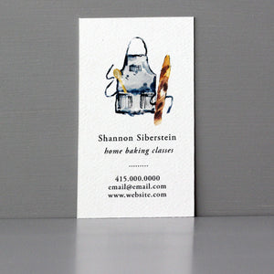 Personal Chef Business Card with Apron and Wood Spoon