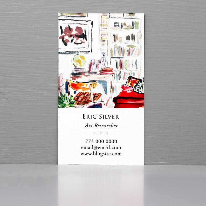 Business Card for Art Historian, Researcher Business Card, Interior Scene