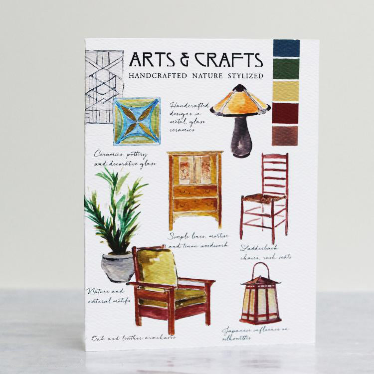 Arts and Crafts Style Card