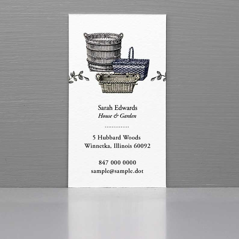 Wicker Basket Business Cards