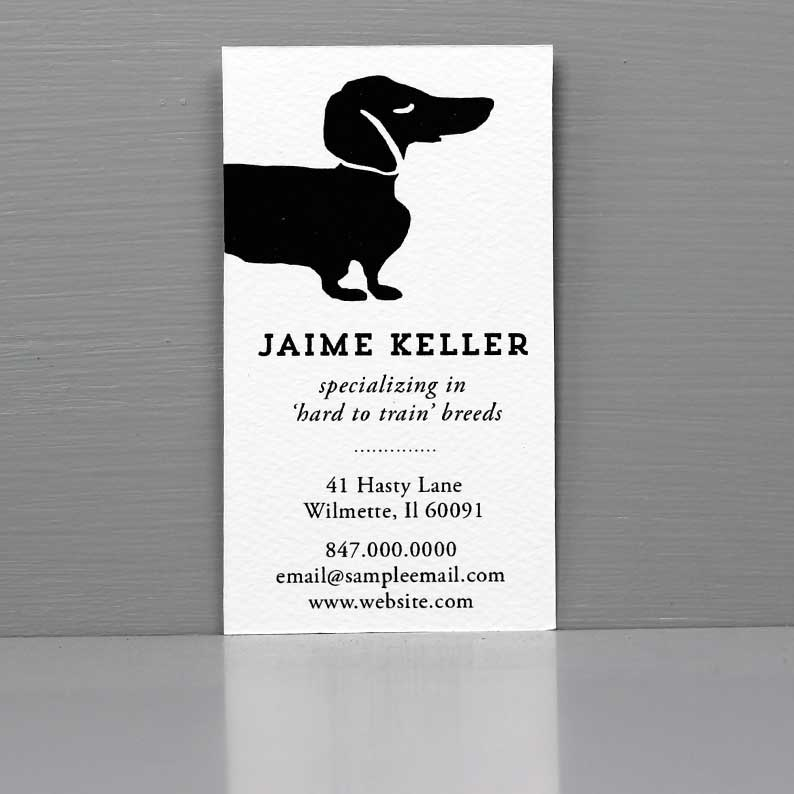 Pet Sitter Business Card with Dachshund