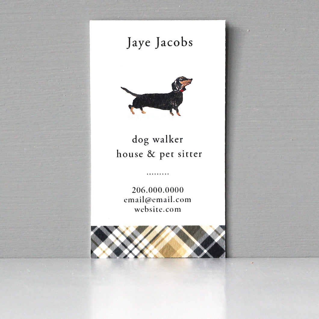 Back and Tan Dachshund Business Card