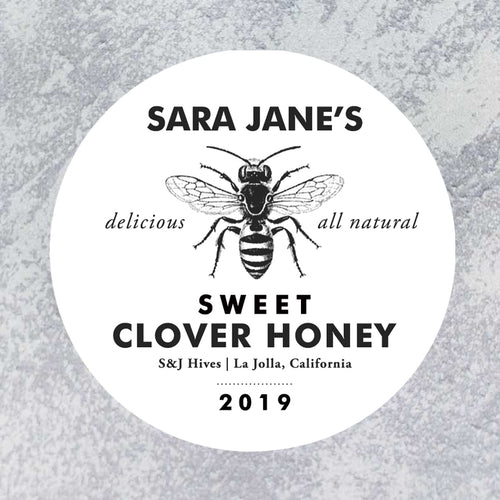 Personalized Round Honey Labels