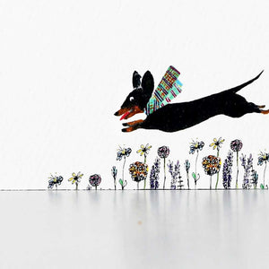 Black and Tan Dachshund Flat Note Set