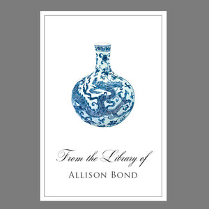 Blue and White Chinoiserie Bookplates