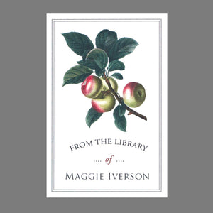 Botanical Apple Bookplates