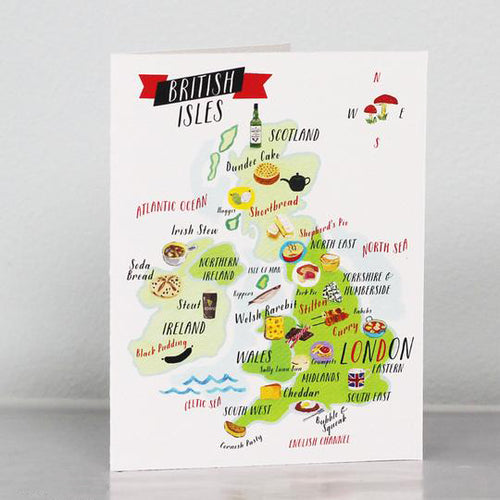 British Isles Food Map Card