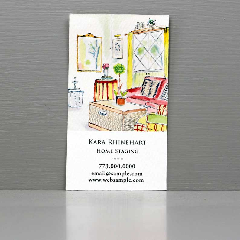 Business Card for Interior Designer, Home Staging Business