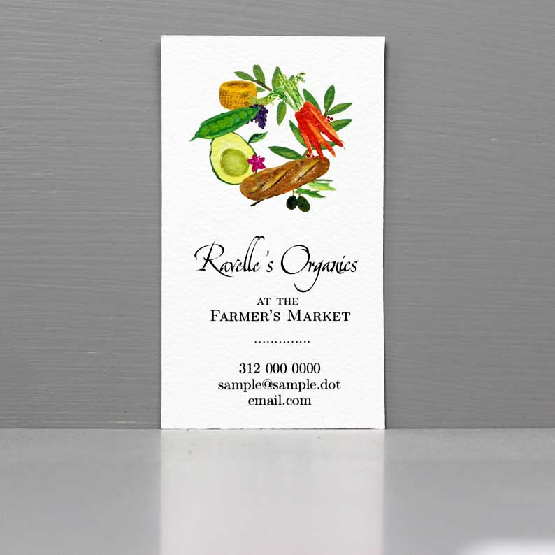 Business Card for Nutritionist, Organic Gardening, Dietitian