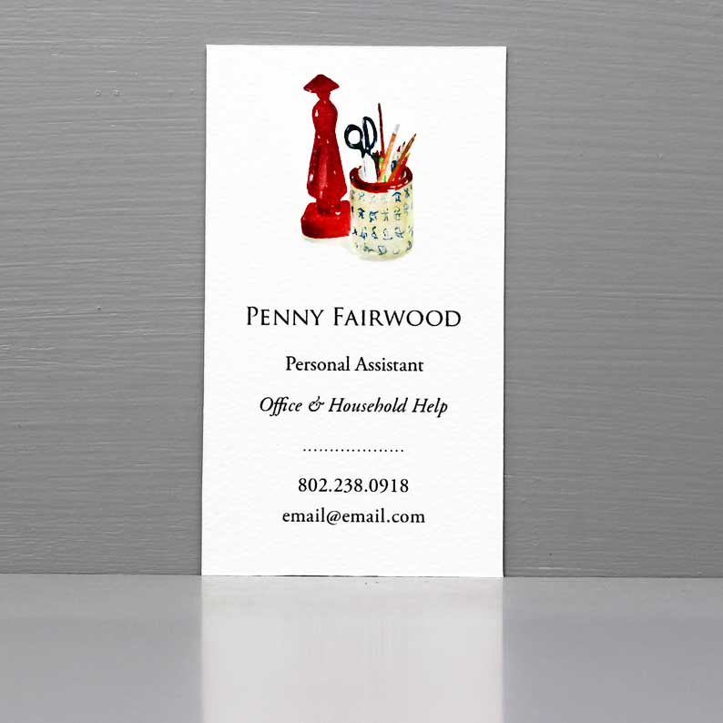 Personal Assistant Business Card, Freelance Office Business, Errand Runner