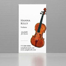 Business Card for Violinist, Violin Business Card