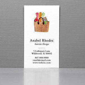 Business Card for Interior Designer, Crafting Business, French Tote