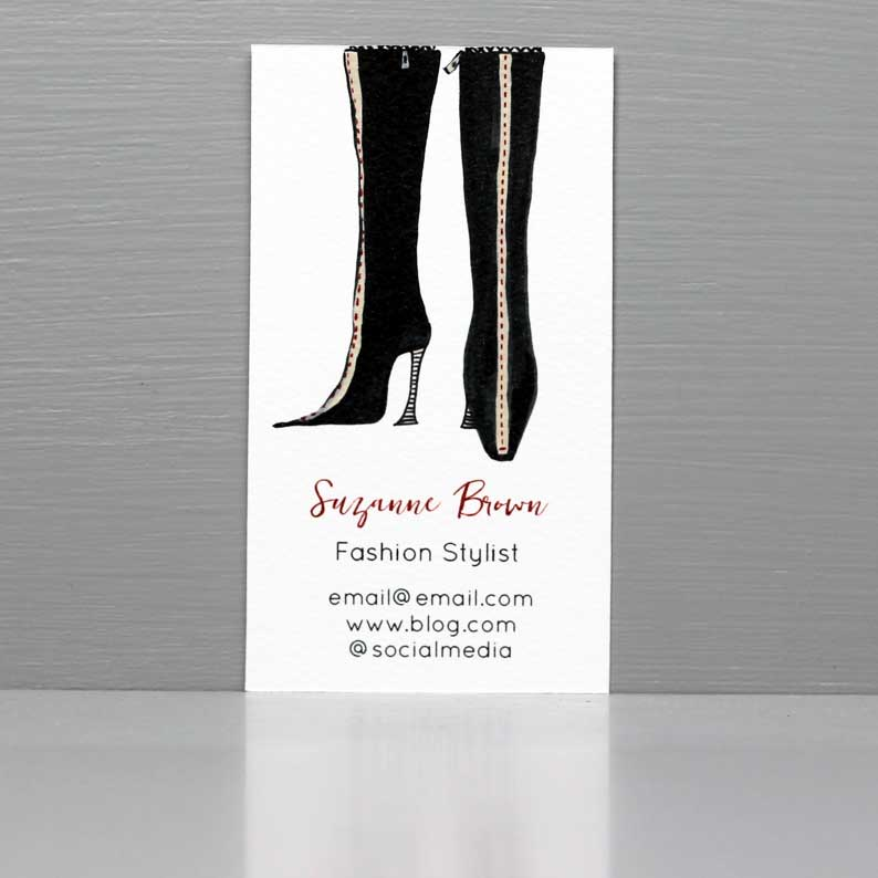 Vintage Fashion Business Card,Vintage Boots