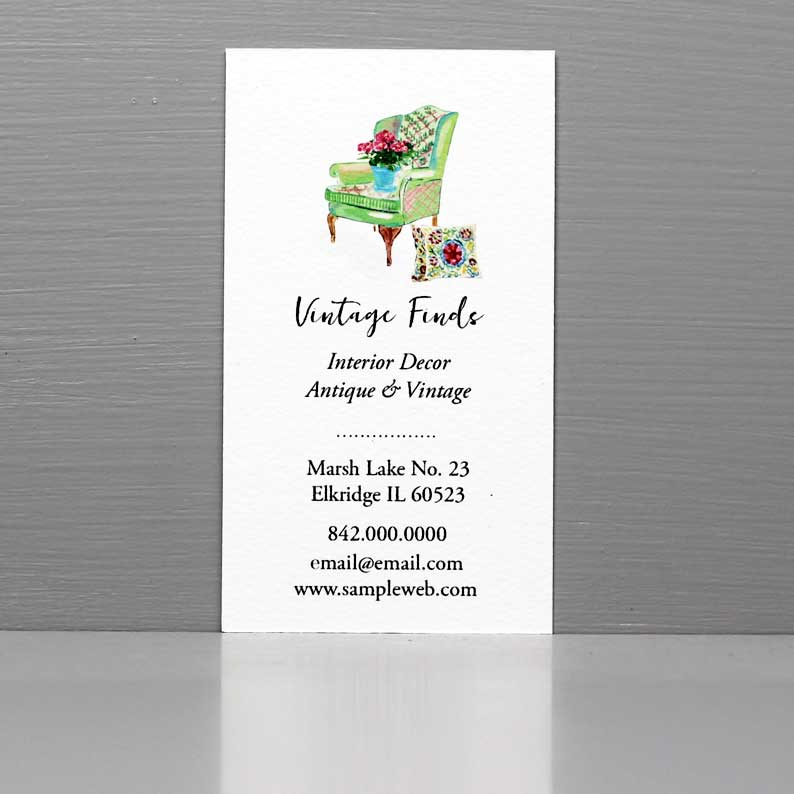 Business Card for Antiques Booth, Estate Sales, Vintage shop