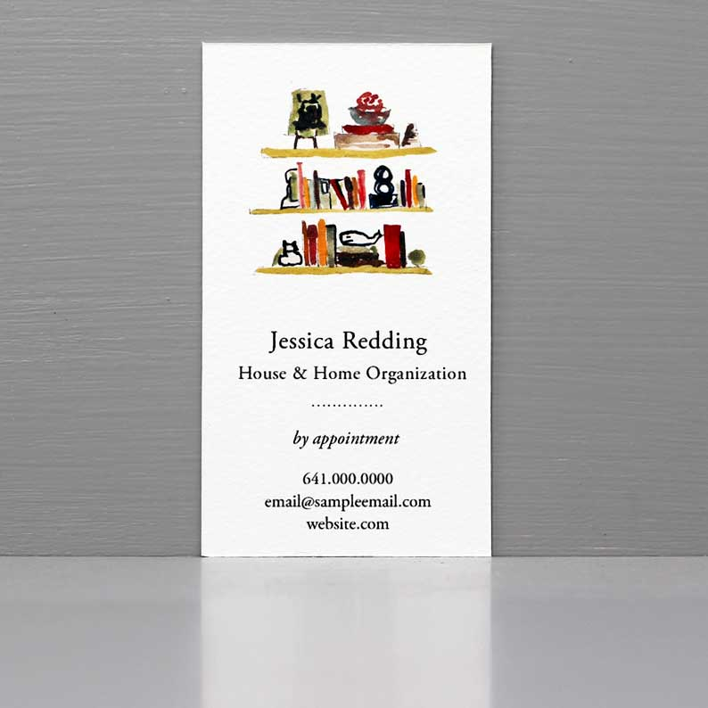 Business Card for Home Organizer, Organizer Business, House Keeper Business