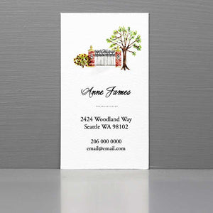 Garden Gate Business Card, Property Manager Business Card