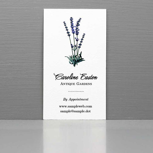 Business Card with Lavender Plant, Herbalist Business