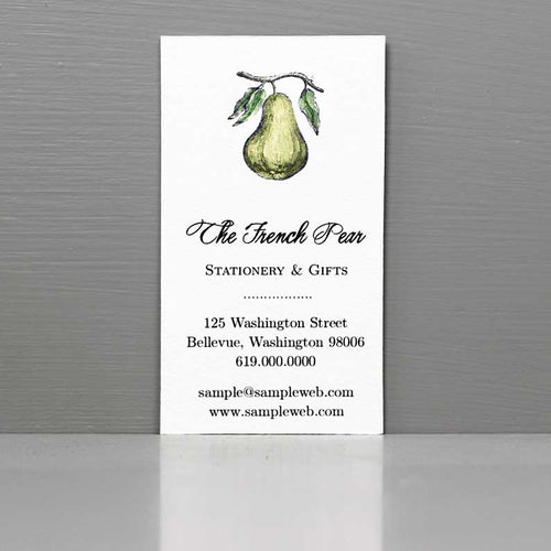 Pear Business Card, French Pear