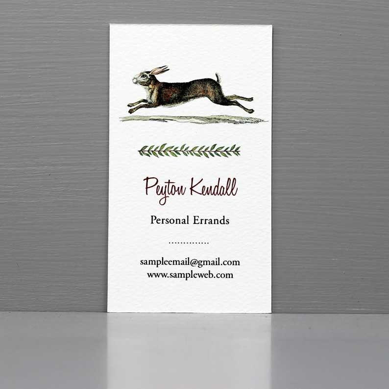 Business Card with Rabbit, Errand Runner Business Card