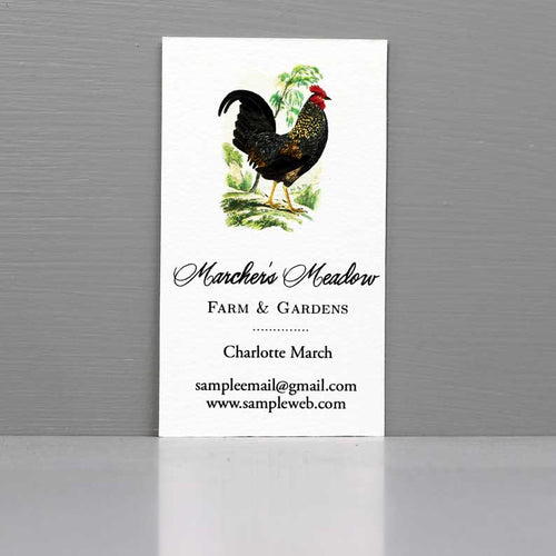 Rooster Business Card, Farm Business, Farm to Table