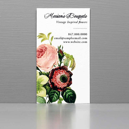 Florist Business Card,Rose Bouquet Business Card